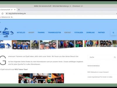 WSG Webseite im neuen Gewand