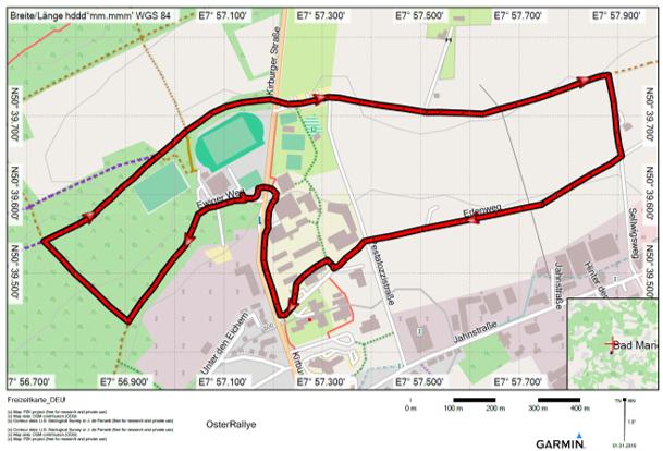 Streckenplan OsterRallye